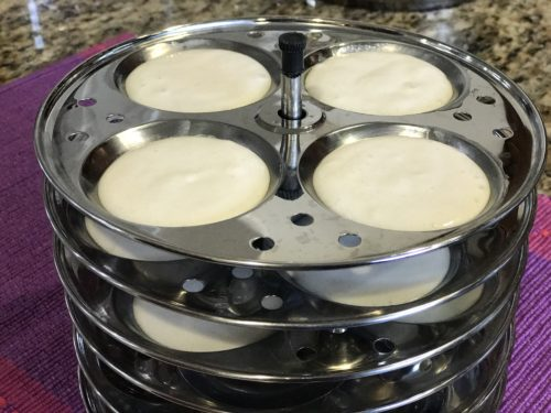 Idli molds ready to cook
