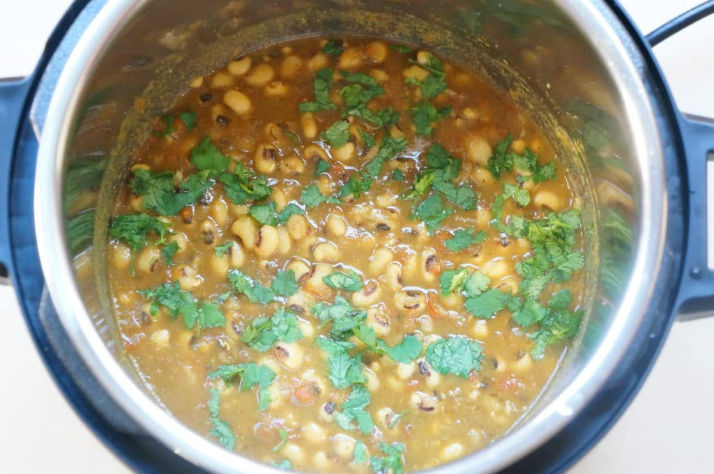 Lobhia Masala. Black eyed peas curry Instant Pot Pressure Cooker