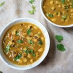 Lobhia Masala. Black eyed peas curry Instant Pot Pressure Cooker