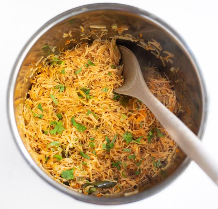 Vermicelli Semiya Upma made in the instant pot