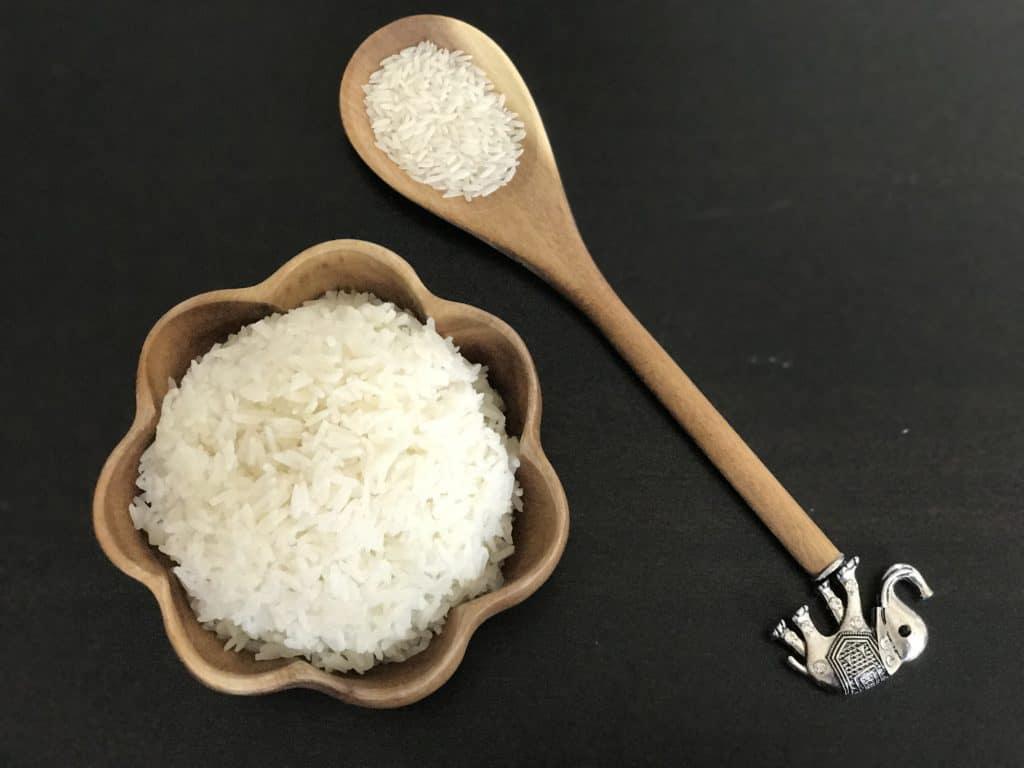 Jasmine Rice in a pretty bowl