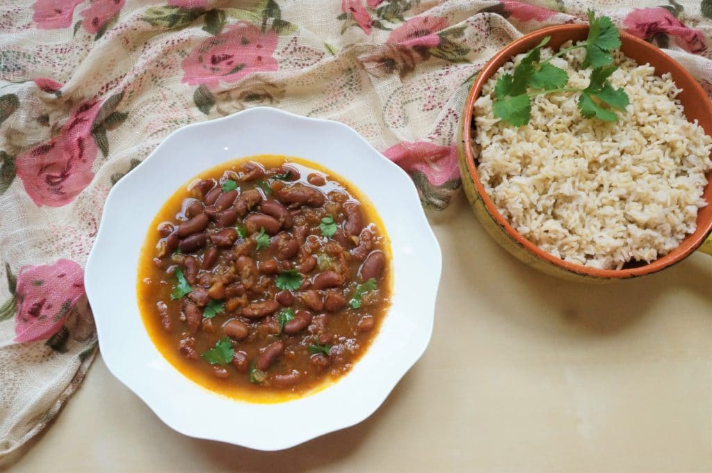 Punjabi Rajma Masala with Brown Rice Pot-in-Pot – Instant Pot Pressure Cooker