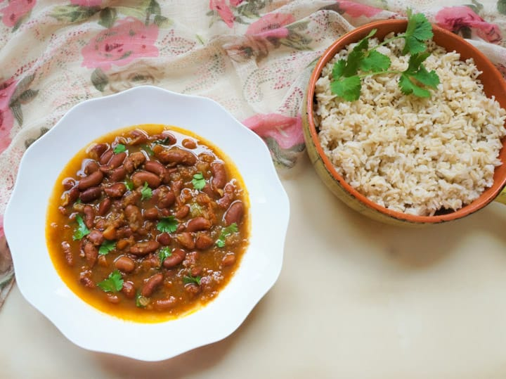 Punjabi Rajma Instant Pot Stovetop Red Bean Curry Piping Pot Curry
