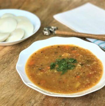 Vegetable Sambar / South Indian Lentils – Instant Pot Pressure Cooker