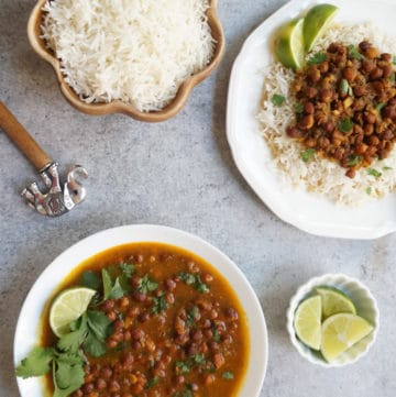 Punjabi Kala Chana / Black Chickpeas Curry – Instant Pot & Stovetop