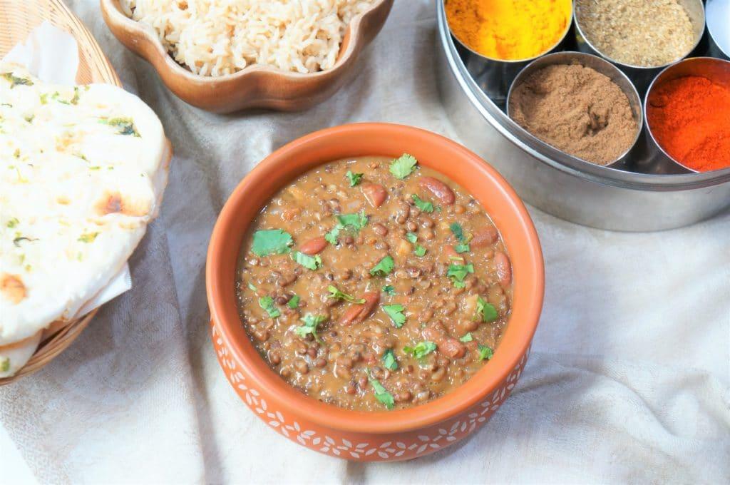 Dal Makhani with Rice (Madras Lentils) – Instant Pot Pressure Cooker