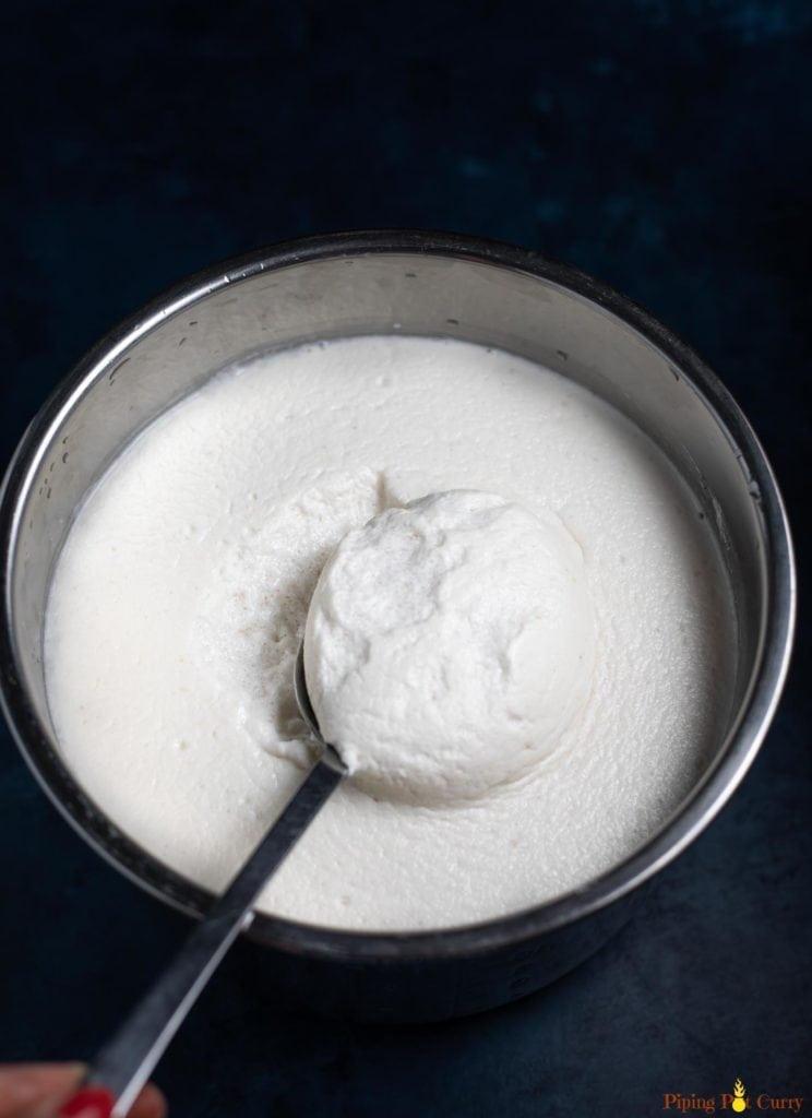Idli batter fermented in instant pot