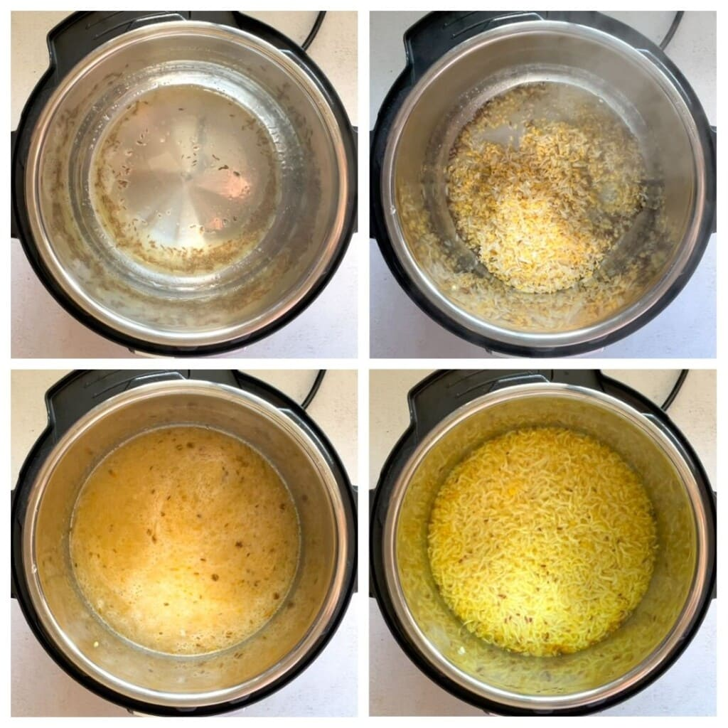Moong Dal Khichdi in the instant pot step by step