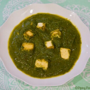 Vegan Palak Tofu in Instant Pot