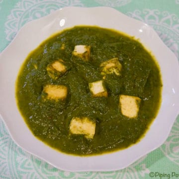 Vegan Palak Tofu in Instant Pot