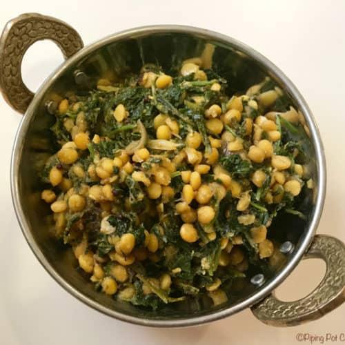 Kale Chickpeas Stir Fry Instant Pot