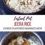 Instant Pot Jeera Rice - Cumin flavored basmati rice