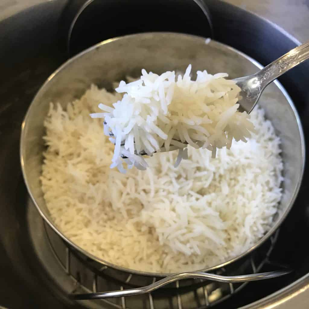 Basmati Rice Pot-in-Pot Instant Pot Pressure Cooker