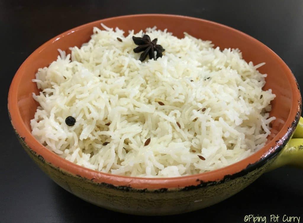 Jeera / Cumin Rice – Instant Pot Pressure Cooker