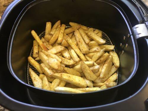 At 10 mins taro fries air fryer