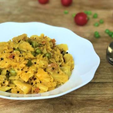 Cabbage & Peas Stir Fry / Patta Gobi Matar – Instant Pot Pressure Cooker