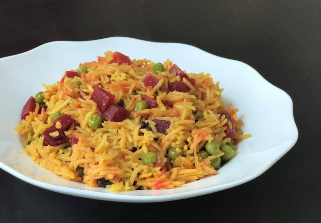 Beet Pulao / Beetroot Rice – Instant Pot Pressure Cooker