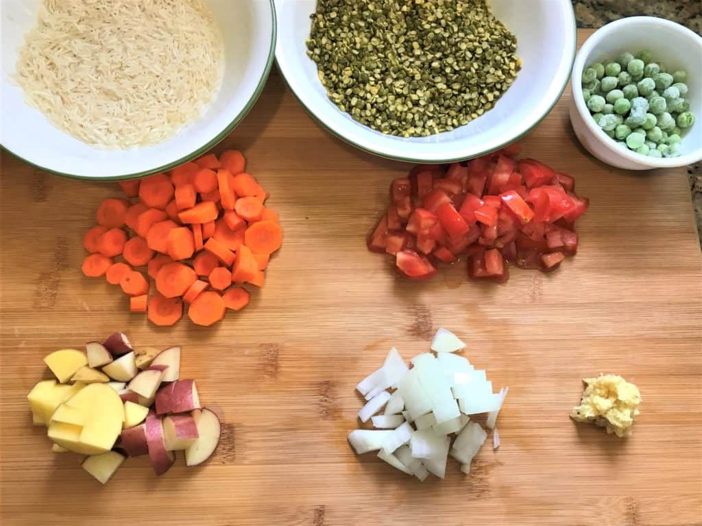 Masala Khichdi Ingredients Instant Pot Pressure Cooker
