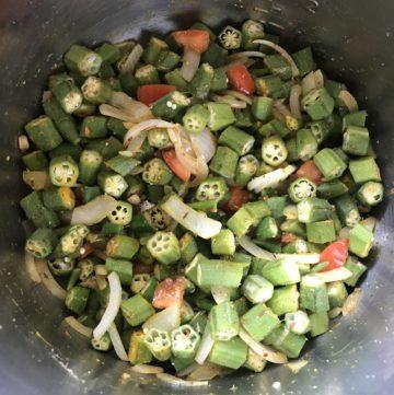Okra Bhindi Masala Instant Pot Pressure Cooker