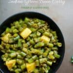Indian Green Beans Curry Instant Pot : Stovetop