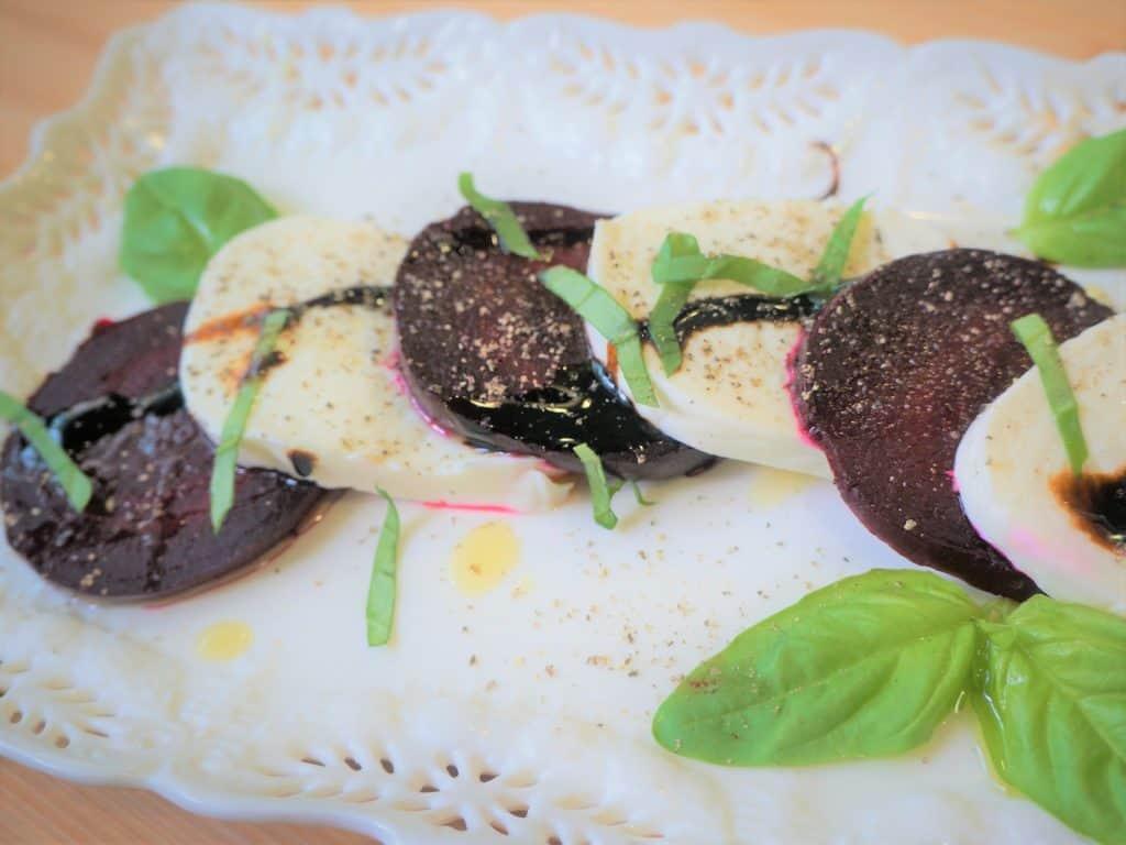 Beet & Mozzarella Salad (with Pressure Cooker Beets)