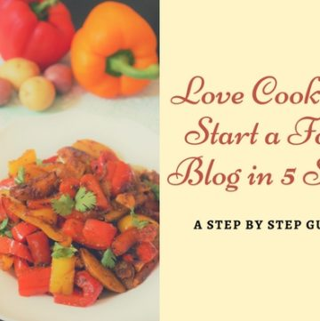 Do you love cooking?  Start your food blog and make money with it!