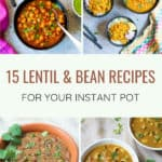 Looking for ideas of how to add more plant based proteins to your diet, check out this roundup of Indian lentils and beans | #recipe #indian #lentils #legumes #beans #curry #instantpot #pressurecooker | pipingpotcurry.com
