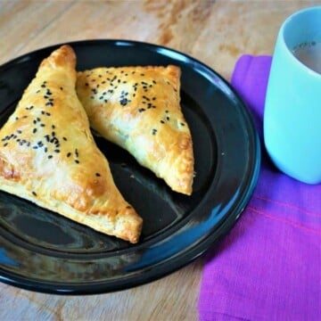 Paneer Puff Pastry Turnovers Air Fryer Oven