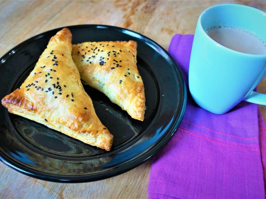 Savory Paneer Puff Pastry Turnovers – Air Fryer / Oven