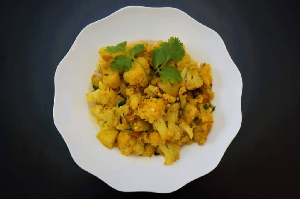 Aloo Gobi / Potato & Cauliflower Stir Fry- Instant Pot Pressure Cooker