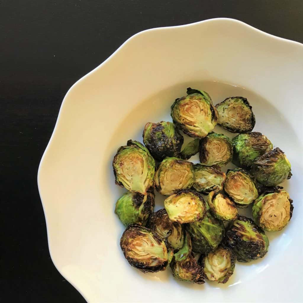 Brussels Sprouts Air Fryer Oven Baked 1