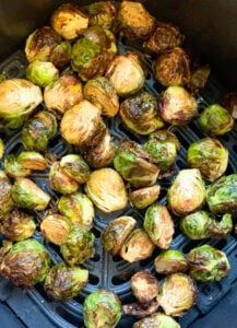 roasted Brussels sprouts in the air fryer