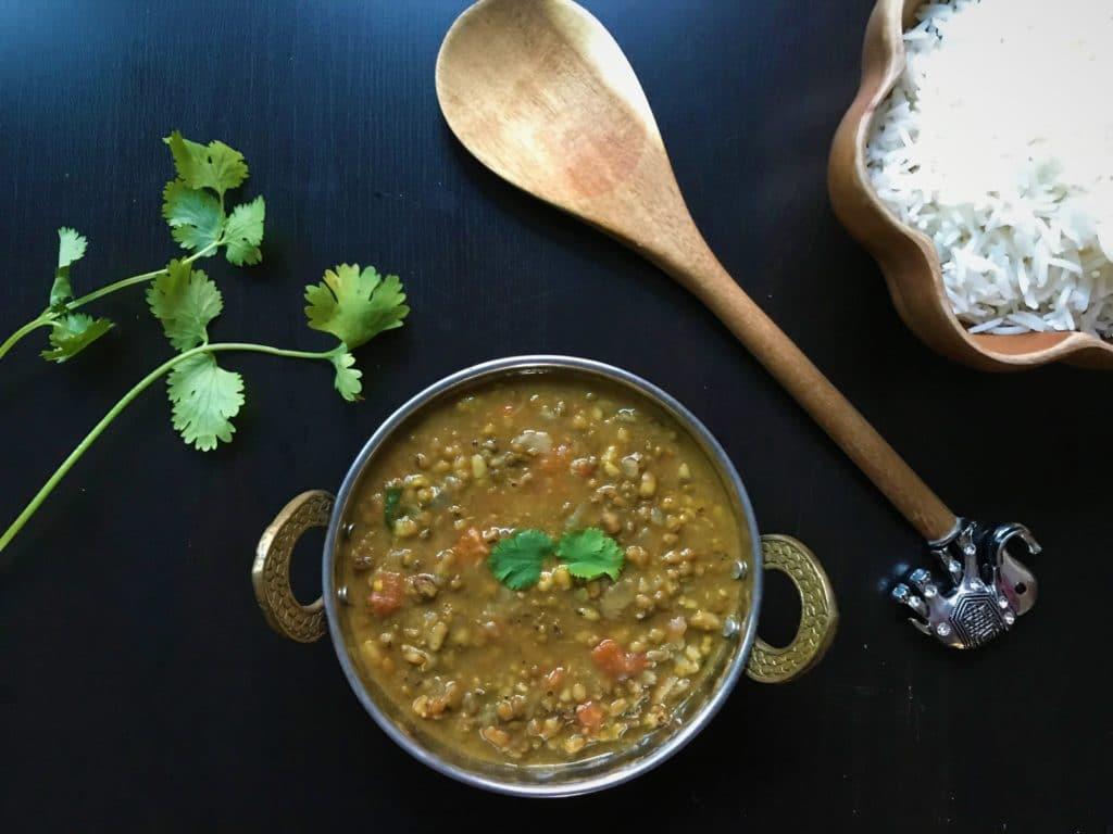 Green Moong Dal / Green Gram Lentils – Instant Pot Pressure Cooker
