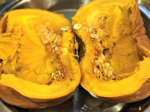 Instant Pot Pumpkin Puree - Pumpkin Cooked 1