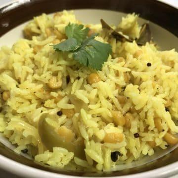 Chickpeas Pilaf / Chana Dal Pulao – Instant Pot Pressure Cooker