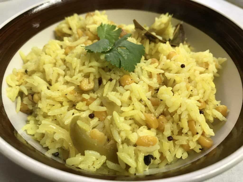 Chickpeas Pilaf / Chana Dal Pulao – Instant Pot Pressure Cooker
