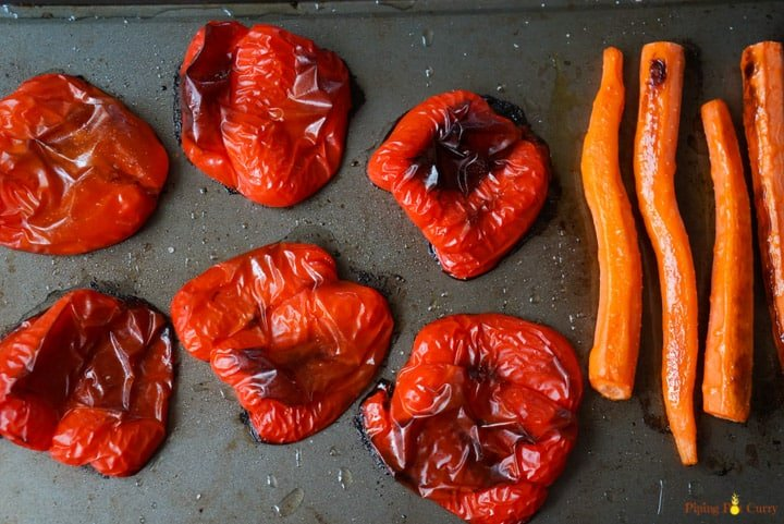 Red peppers and Carrots - Roasted