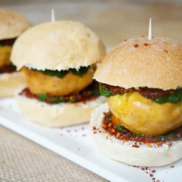 Potato Fritter Sliders