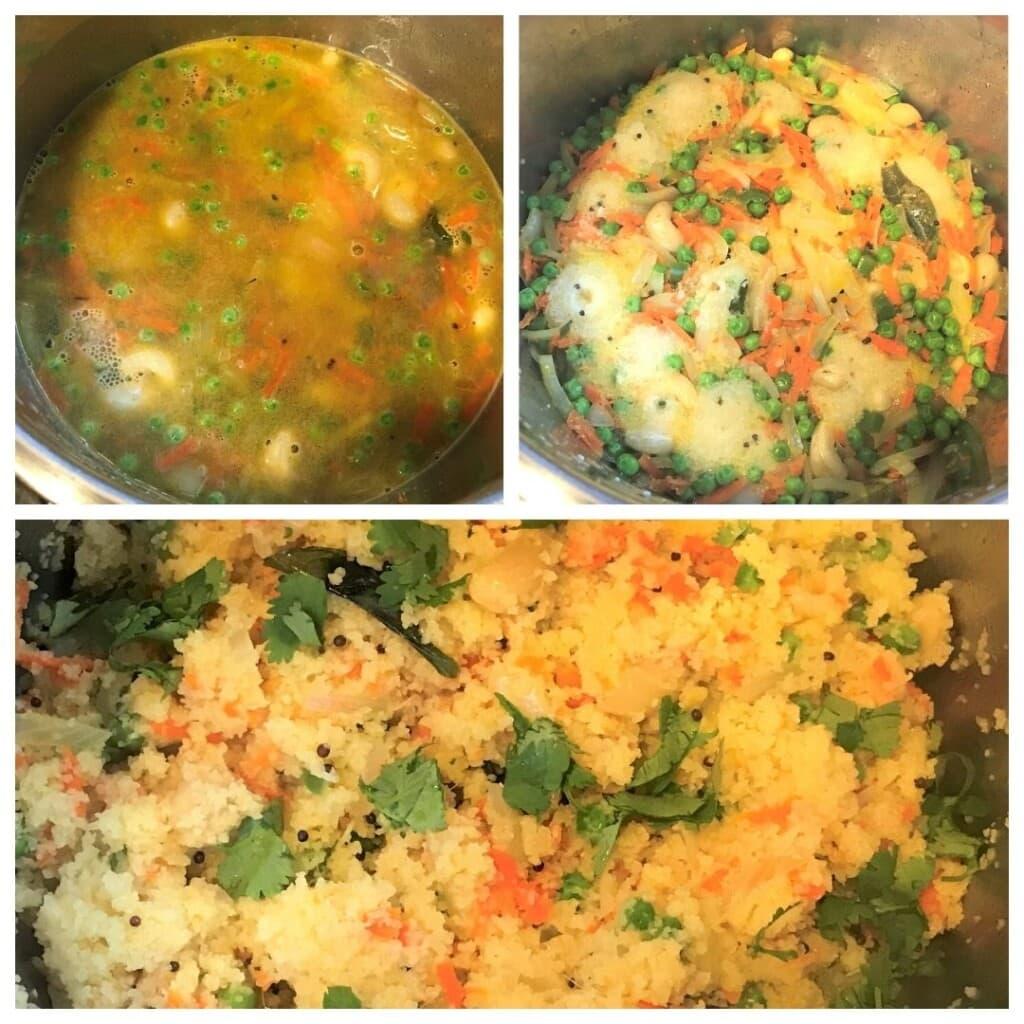 steps to make Rava Upma in instant pot