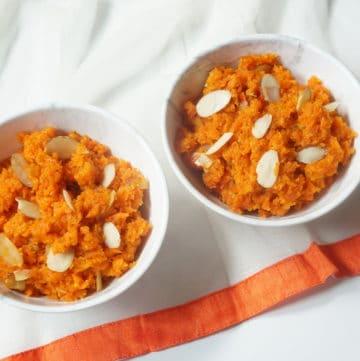 Instant Pot Carrot Halwa / Gajar ka Halwa (with Stovetop option)