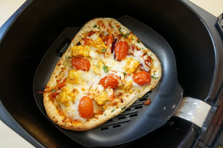 Tandoori Paneer Naan Pizza Air Fryer