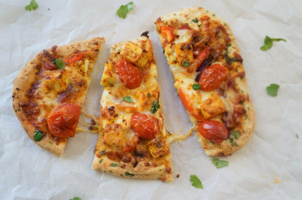 Tandoori Paneer Naan Pizza Air Fryer Ready