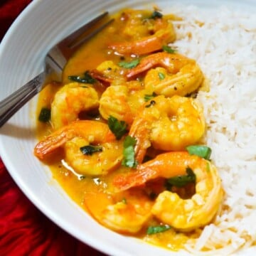 Coconut Shrimp Curry in Instant Pot Pressure Cooker