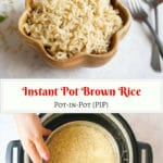 Instant Pot Brown Rice Pot in Pot PIP