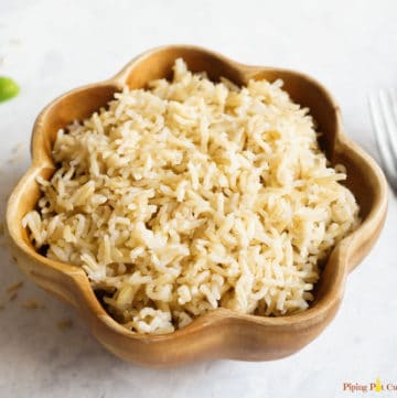 Instant Pot Brown Rice (Pot-in-Pot Method)