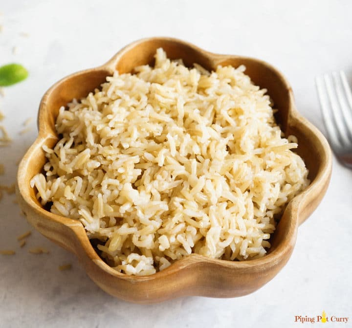 Make perfect pot-in-pot brown rice in your instant pot every time. It is quick, easy and no fuss!