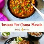 Punjabi Chole Masala / Chana Masala / Chickpeas Curryis a favorite Indian dish. This one-pot recipe for the authentic Chana Masala can be made in the Instant Pot or stovetop Pressure Cooker. A healthy protein-rich vegan and gluten free chickpea recipe.