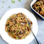 Instant Pot Mushroom Brown Rice Pilaf