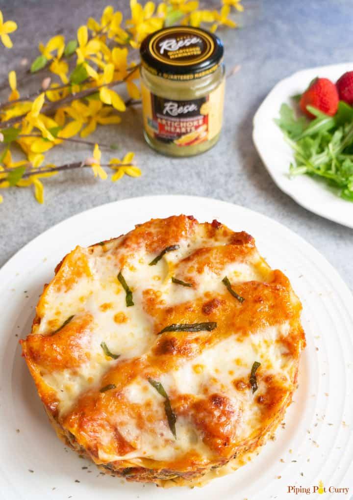 Instant Pot Spinach Artichoke Lasagna is part of our instant pot meal plan August.
