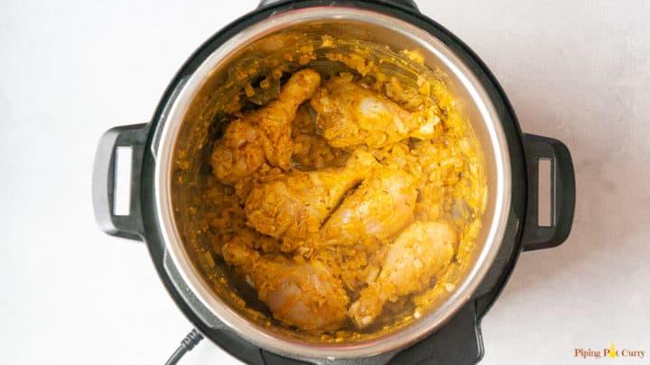 Chicken Korma - 2. Add marinated chicken